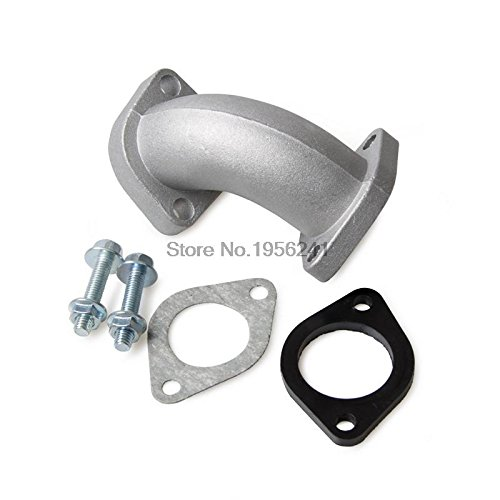Alina-Shops - 27mm Intake Manifold Pipe With Gaskets For 150cc 200cc 250cc ATV Quad Dirt Bike fuel system Assembly Parts