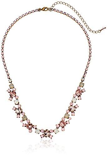 Sorrelli Pink Peony Perfect Harmony Line Necklace, 17 + 5 Extender