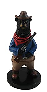 """6"""" Tall John Wayne Black Bear Collectible Figurine by DWK 