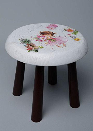 Handmade Decoupage Wooden Stool