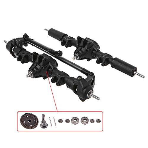 - EAPTS RC Car Front Rear Straight Complete Axle for 1:10 RC Crawler Axial SCX10 II 90046 90047 Upgrade Parts (AB)