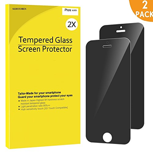 SLBSTORES 2-Pack iPhone 6s Screen Protector Privacy Anti-Spy Tempered Glass Film for Apple iPhone 6 and iPhone 6s - 6 Break Iphone Anti Screen