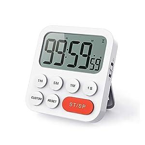 LIORQUE Digitale Timer da Cucina, Timer Multifunzione con Funzione Orologio, Regolazione Rapida, 3 Livelli di Volume… 12