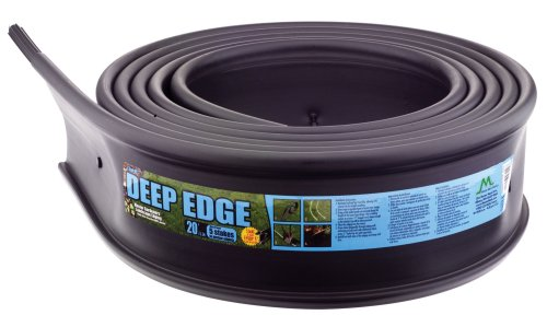 Master Mark Plastics 22620 Deep Edge Landscape Edging 6 Inch by 20-Foot, Black - Edge Lawn Edging