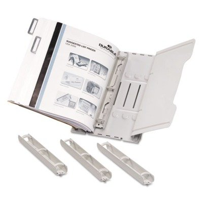 Ring Binder Rack - Durable Sturdy Reference Ring Binder, Silver (595010)