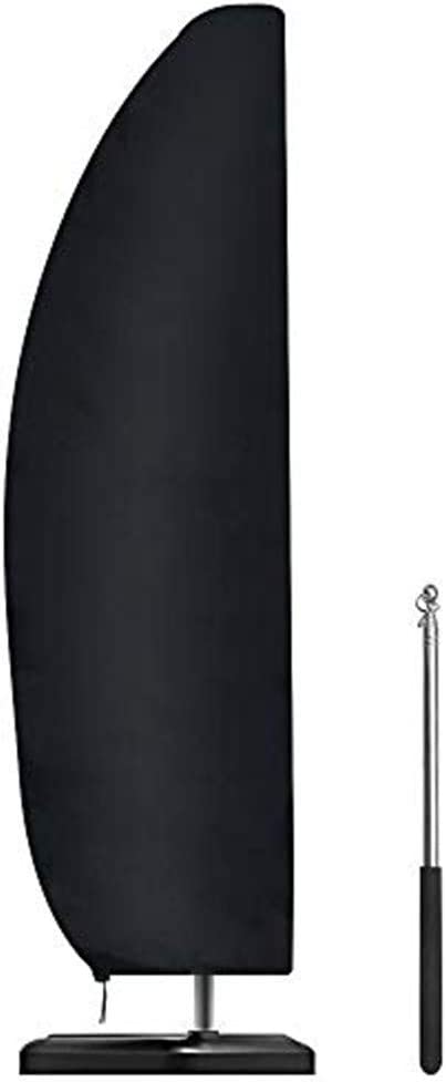 resistente allacqua Copertura per ombrellone da giardino con asta 265x30x70//45 cm copertura per ombrellone a cantilever 2 //3//4 m grande copertura per ombrellone da giardino anti UV nero