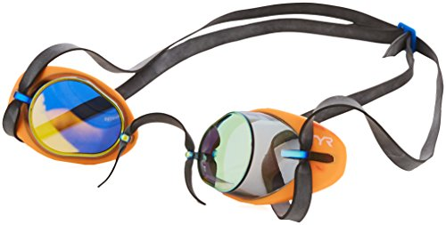 TYR Socket Rockets 2.0 Mirrored Goggles, Rainbow, One Size