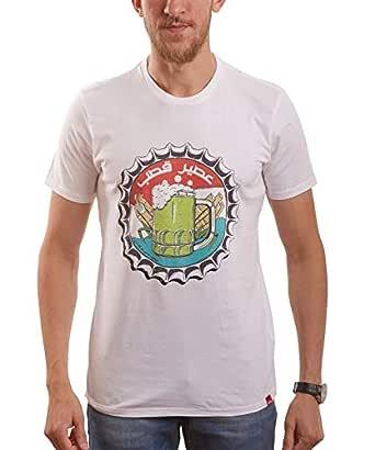 Nas Trends White Cotton Round Neck T-Shirt For Men
