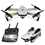 Hisoul Foldable Drone 2.4G 6 Axis Wide-angle120°720P Camera WiFi Altitude Hold Selfie Quadcopter Drone - Headless Mode, One Key Take Off/Landing, Fast Slow Control (A)