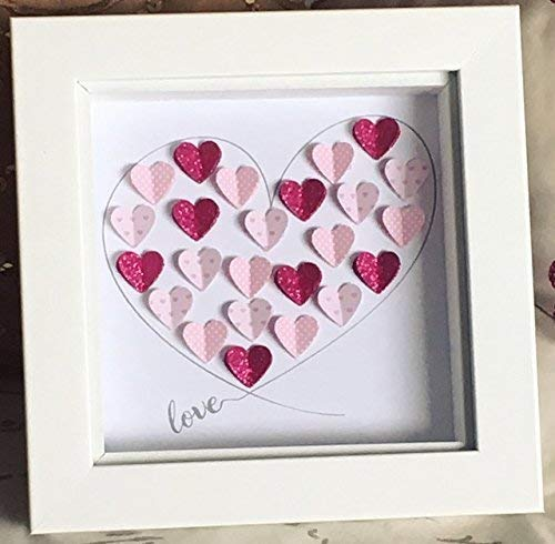 ee2c9b636b9 Love Heart Frame - Paper Heart Wall Decor Art Valentines Gift 5x5 ...