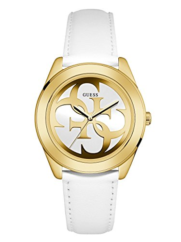 GUESS-Womens-Quartz-Stainless-Steel-and-Leather-Casual-Watch-ColorWhite-Model-U0895L2