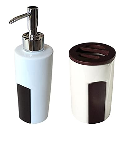 Arredobagnoecucine Dispensador Dosasapone dosificador dispensador jabón líquido y porta cepillos