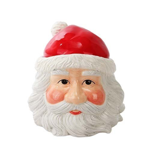 Pacific Trading Christmas Santa Cookie Jar Ceramic Cute Kitchen Accessory ()