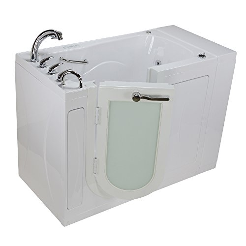 Drain 30 Left (Ella OA3052DFH-DC-L Malibu Acrylic Dual Massage Walk-in Bathtubs, Outward Swing Door, Fast Fill Faucet, Digital Control, Heated Seat & Backrest, Left 2