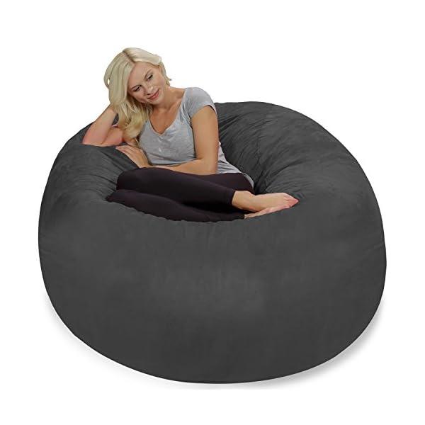 Terrific Chill Sack Bean Bag Chair Giant 5 Memory Foam Furniture Bean Bag Big Sofa With Soft Micro Fiber Cover Charcoal Camellatalisay Diy Chair Ideas Camellatalisaycom