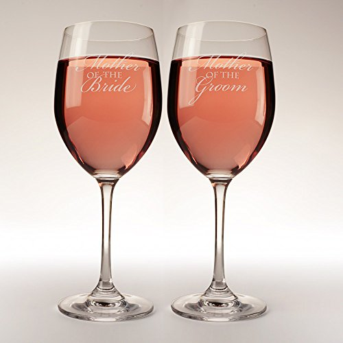 16 oz. Mother of the Bride and Mother of the Groom wine glasses, set of 2