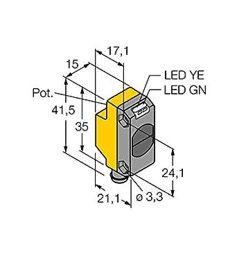 3066426 – qs186ebq7, Opto sensor desechable Barrera de luz (Transmisor)