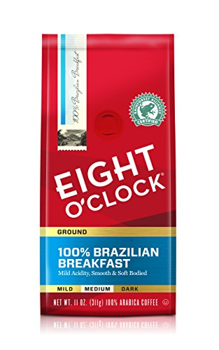 Eight O'Clock Establish Coffee, 100% Brazilian Breakfast, 11 Ounce