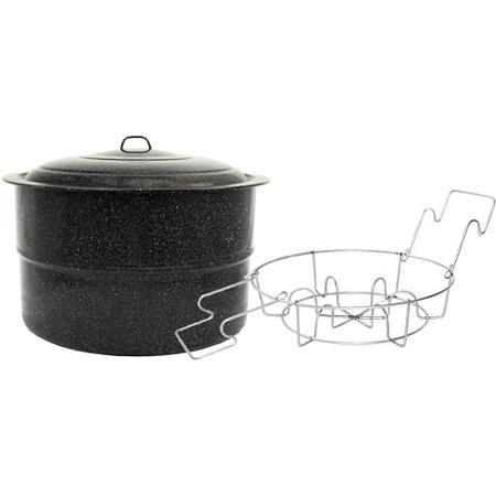 Granite Ware 33-Quart Canner with Jar Rack, Black non-8591