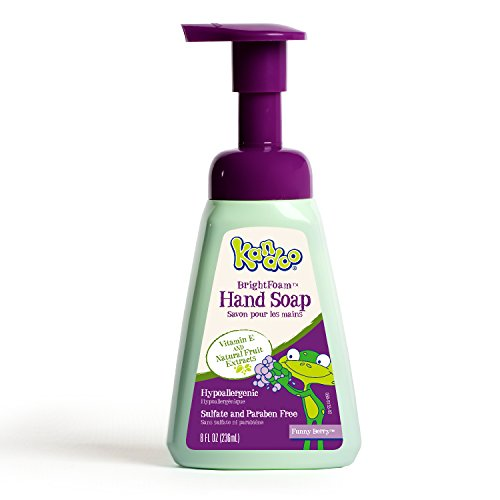 Hand Soap for Kids by Kandoo, Brightfoam Moisturizing Colored Foaming Soap with Vitamin E, Lets kids know when they are covered, Funny Berry Scented, 8.4 oz