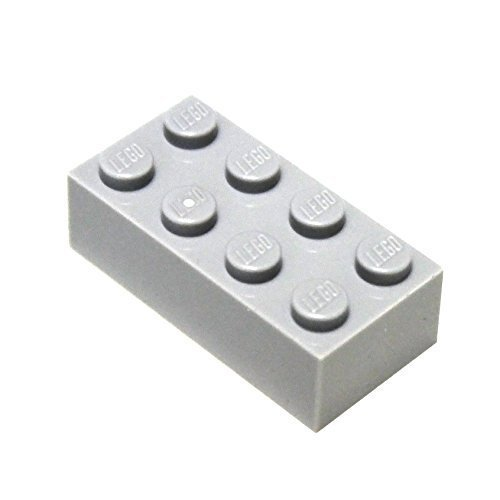(LEGO Parts and Pieces: Light Gray (Medium Stone Grey) 2x4 Brick x200 )