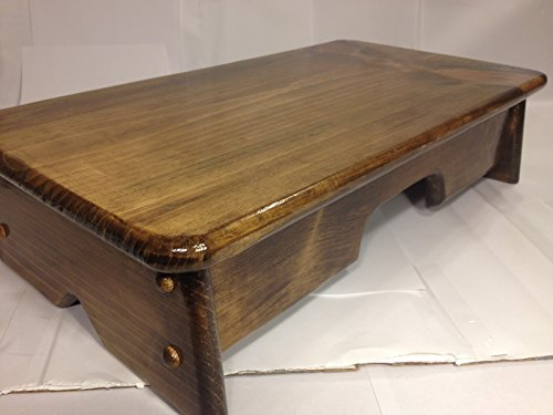 "Bed Side Step Stool Provencial Stained 11"" Wide ( Made in..."