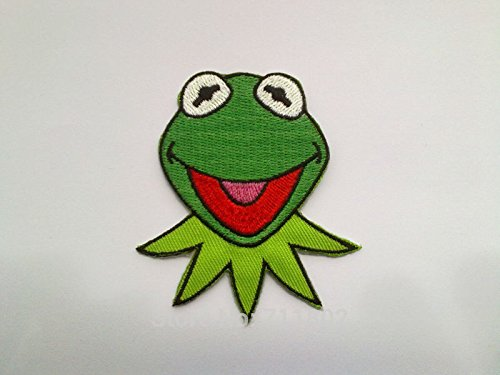 FairyMotion Toy Story Kermit Frog Iron On Patches Biker Vest Patch Cloth Coat Badge Embroidered Applique Patch 20Pcs/Lot Perfect Patches