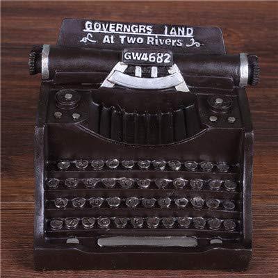 Professional Old Typewriter Desk, Resin Typewriter Crafts Creative Typewriters Figurines Nostalgic Art - Charm Display, Royal Collectibles, Typewriter Ornaments, Leo Smith, Typewriter Lamp by Unknown