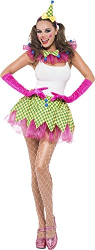 Fever Women's Clown Kit, Headband, Collar and Tutu, One Size, Colour: Pink and Green, 43945