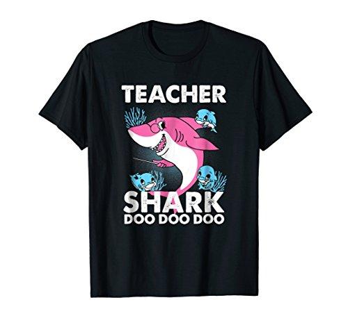 Teacher Shark Tshirt Doo Doo Doo Tee Gift For Teachers