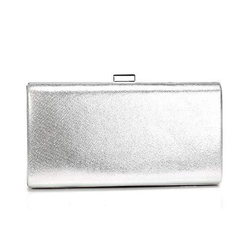 perle Bag argento sposa Evening Licyen la Clutch Perle colore Satin Flower Argento per mano della di Bags Women xxz6EqY