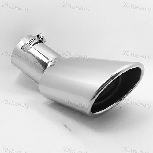New 1Pcs stainless steel chrome tail muffler tailpipe exhaust pipe For Ecosport 2008 2009 2010 2011 2012 2013 2014 2015 2018 2017 2018