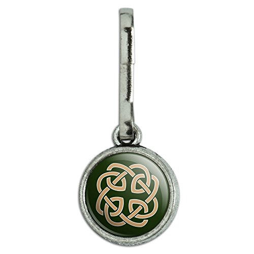 GRAPHICS & MORE Celtic Knot Love Eternity Antiqued Charm Clothes Purse Suitcase Backpack Zipper Pull Aid