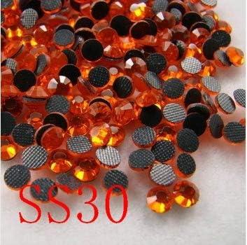 ASTONISH SS30 6.4-6.6MM, 288pcs / jacinto bolsa de DMC HotFix FlatBack de diamantes de imitación, máquina de cortar hierro-en cristal prenda piedra caliente del arreglo