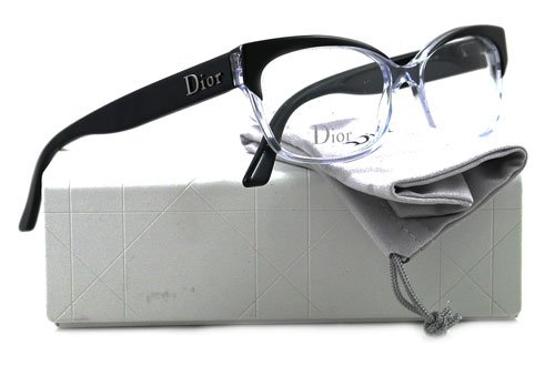 0a084762fb0 Christian Dior 3197 Eyeglasses 0K4X BLACK CRYSTAL BLACK  Amazon.ca ...