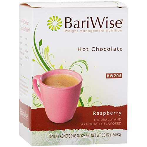 BariWise High Protein Hot Cocoa - Instant Low-Carb, Low Calorie Hot Chocolate Mix with 15g Protein - Raspberry (7 Count)