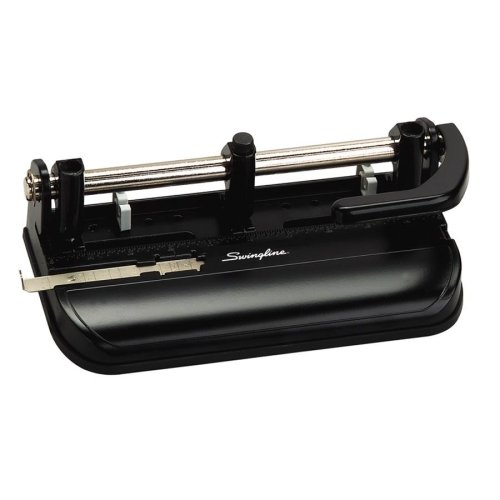 Swingline Three-Hole Punch - 7 Punch Head(s) - 32 Sheet Capacity - 9/32