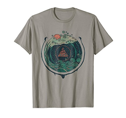 ''Water'' Cool Hand Drawn Nature Graphic T-Shirt by Design By Humans