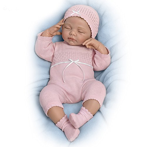 Baby Doll Adult Baby - The Ashton - Drake Galleries Beautiful Dreamer Breathes with Heartbeat and Hand-Rooted Hair - So Truly Real Lifelike, Interactive & Realistic Weighted Newborn Baby Doll 19-inches by