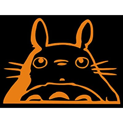 "Totoro Head Car Window Decal (Orange, 6""): Automotive"