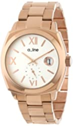 a_line Women's AL-80014-RG-22 Dashuri Light Silver Dial Rose Gold Ion-Plated Stainless Steel Watch