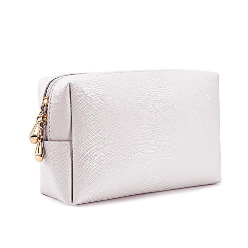 Zevrez Women's Cosmetic Bags Small Travel Clutch Pouch Makeup Bag (Beige)