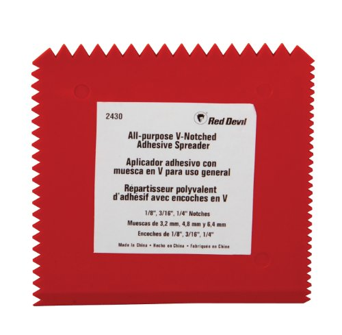 - Red Devil 2430 Multi-Notch Plastic Adhesive Spreader