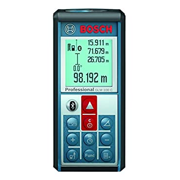 Bosch GLM 100 C Bluetooth Enabled 330' Lithium-Ion Laser Distance and Angle Measurer