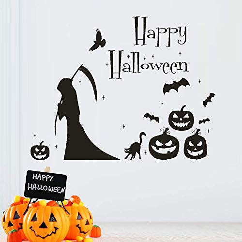 velocidad Wall Art Decals Stickers Wall Quote Happy Halloween Witch Bat Wall Sticker Window Household Wall Decor Ation Decal Decor