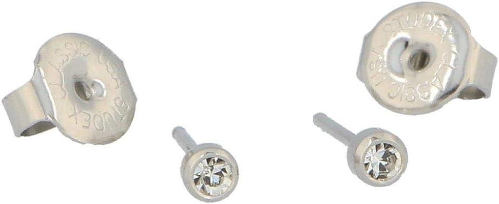 1 par de pendientes médicos Crystal Mini de Studex (3 mm de diámetro).