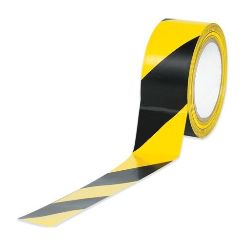 2in x 36 yds. Black/Yellow Striped Vinyl Safety Tape by Box Partner