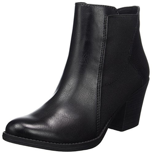 25314 Marco Mujer Tozzi Botas Negro Black para Chelsea comb Ant r5rXw