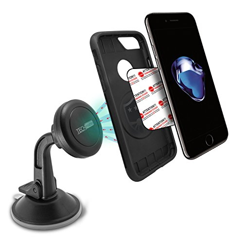 Dashboard-Mount-TechMatte-MagGrip-Dashboard-and-Windshield-Magnetic-Universal-Car-Mount-Holder-for-Smartphones-including-iPhone-7-6-6S-Galaxy-S7-S7-Edge-Black