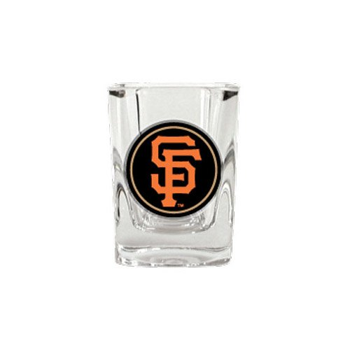 Baseball Square Shot Glass (Great American 8900677806 San Francisco Giants Square Shot Glass - 2)